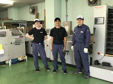 第二工場/印刷物の加工作業